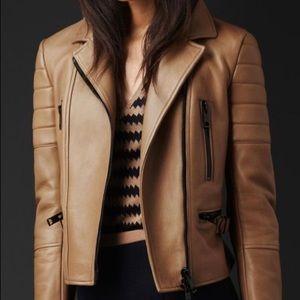 Authentic Burberry Prorsum Biker Leather Jacket